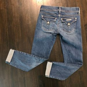 Hudson Ginny Straight Ankle Cuffed Jeans - Size 26